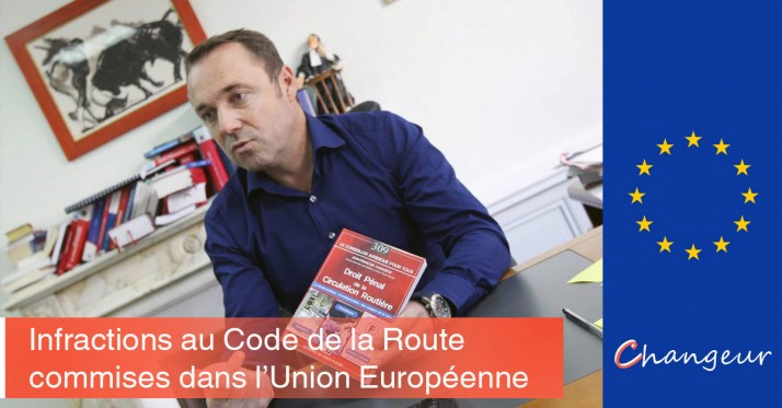 Infractions à l'étranger en Europe (UE), amende et perte de points